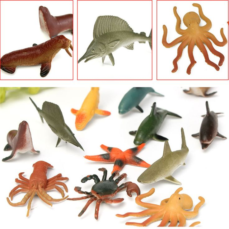 12PCS/Set 4.5-8cm Plastic Marine Animal Figures Ocean Creatures Sea Life Shark Whale Crab Kids Toy #>=#>=#>=#>=#> Click on the pin to check out discount price, color, size, shipping, etc. Save and like it!