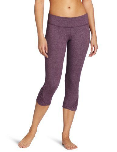 Beyond Yoga Women's Diagonal Gathered Leggings by Beyond Yoga. $54.75. Our performance fabric is made with organic cotton and recycled polyester.. Fabric is subtly heathered. Low impact dyes and recycled trims. 32% organic cotton 60% recycled polyester 8% lycra. Our Fold Over Capri features a fold over waistband and Capri Length leggings.  Made from our  custom performance fabric that is made of organic cotton and recycled polyester