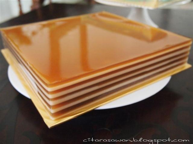 Agar-agar Lapis Gula Merah / Gula Melaka ~ Resepi Terbaik