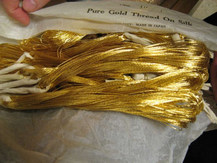 REAL GOLD threat used in a atelier of a convent, I envy them, nowadays is only the syntactic s…. excuse me! You can get a little over excited!