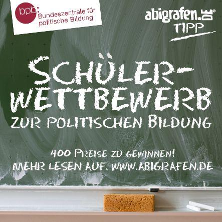 #Schülerwettbewerb der Bundeszentrale für politische Bildung (#bpb). Über 400 tolle #Preise! Einsendeschluss: 1.12.2014
