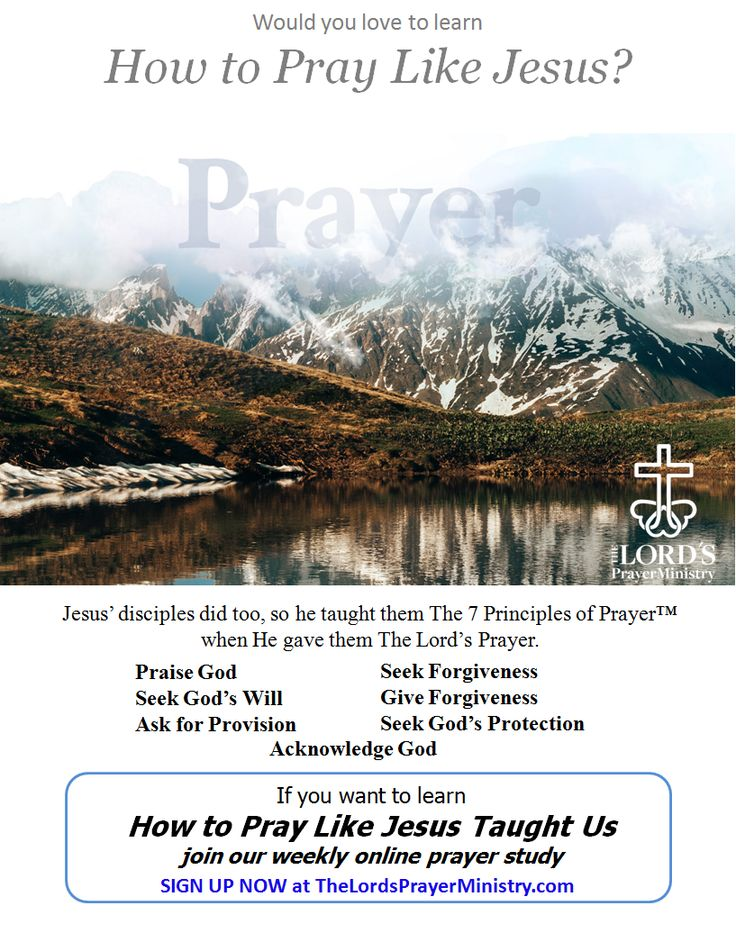 Sign Up & Join our weekly Online Prayer Study.