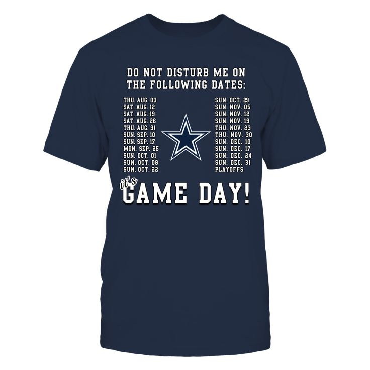Dallas Cowboys, It's Game Day! Front picture