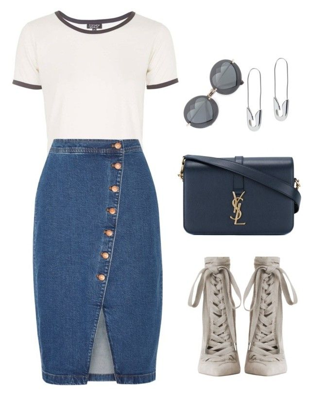 """Untitled #1998"" by n2288851 on Polyvore featuring Topshop, Madewell, Zimmermann, Yves Saint Laurent, Tom Binns and Miu Miu"