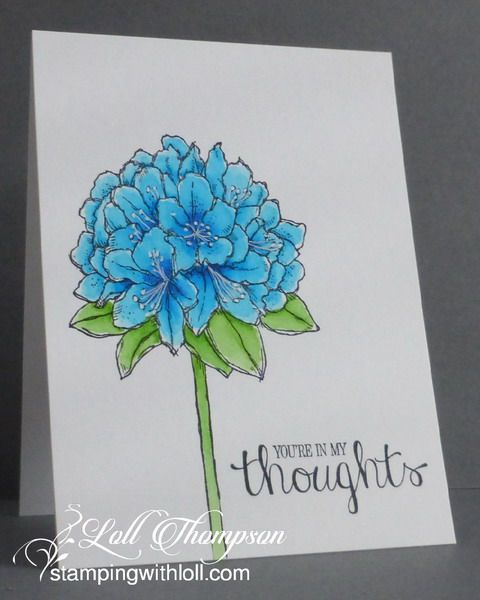 Stamping with Loll: Your in My Thoughts:  Using New Zig Clear Color Real Brush Pens...