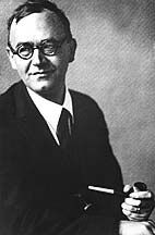 Karl Barth elects to say yes to God with his pipe.