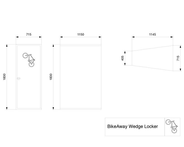 BikeAway 2D Wedge visual