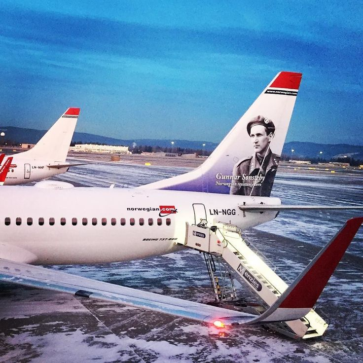 Waiting in Oslo for my connection flight to Alta in Northern Norway. I am flying with Norwegian Air Lines. Looking at the vertical fin of their planes you can also learn something about Norwegian history.    Find all our trips to Norway on our blog: http://www.hikeventures.com/destinations/