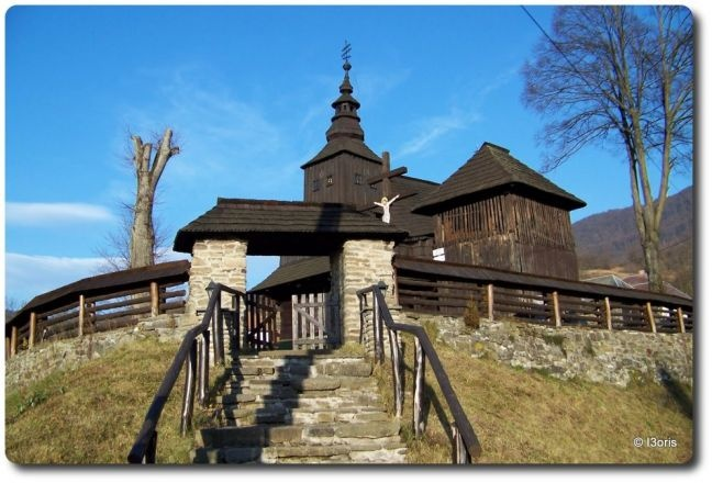 Slovakia, Ruský Potok - Wooden church