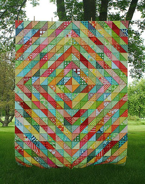 Warm/cool quilt by Freshly Pieced http://freshlypieced.blogspot.com/2011/06/warmcool-top-complete.html