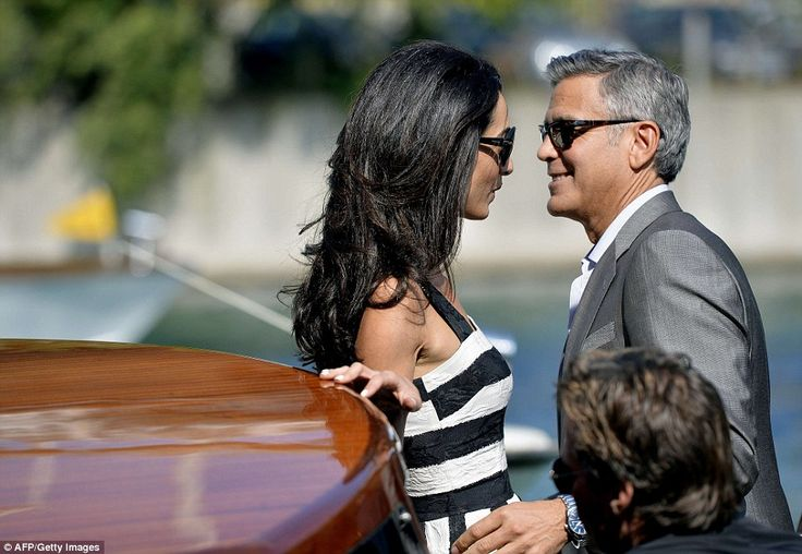 Look into my eyes: Glowing couple George Clooney and Amal Alamuddin couldn't take their ey...