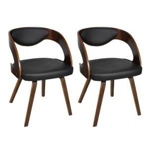 Magnifique Lot de 2 chaises a accoudoirs salle a manger en cuir melange brun - Achat / Vente chaise Marron - Soldes * Cdiscount