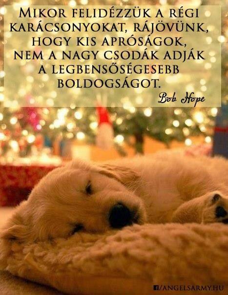 Bob Hope idézet a régi karácsonyok emlékeiről. A kép forrása: Angels' Army