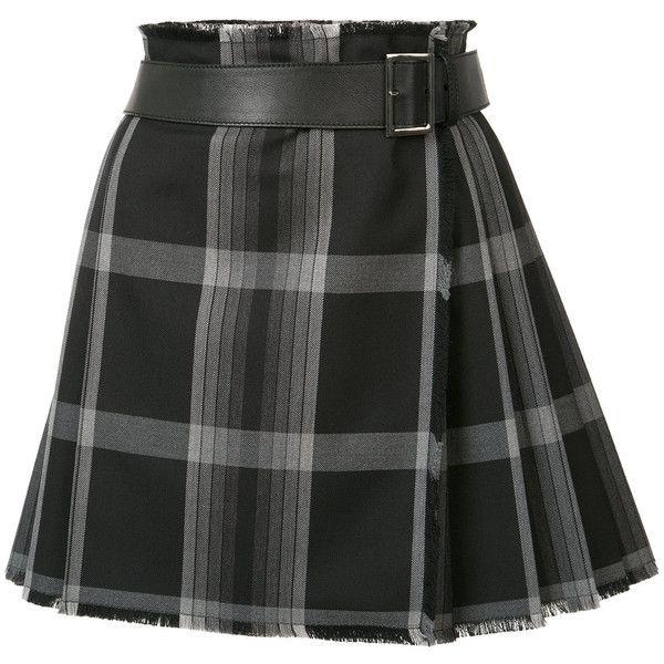 Alexander McQueen short tartan kilt ($1,895) ❤ liked on Polyvore featuring black and alexander mcqueen
