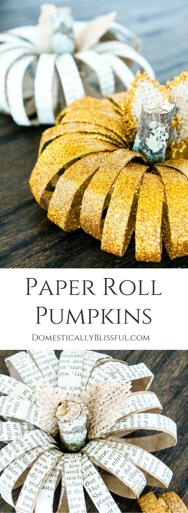 Paper Roll Pumpkins are a simple fall decor craft that can be created by repurposing items you already have at home!