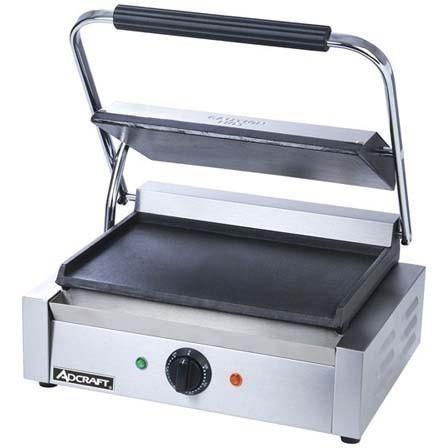 Commercial Kitchen Countertop Single Plus Flat Panini Sandwich Grill