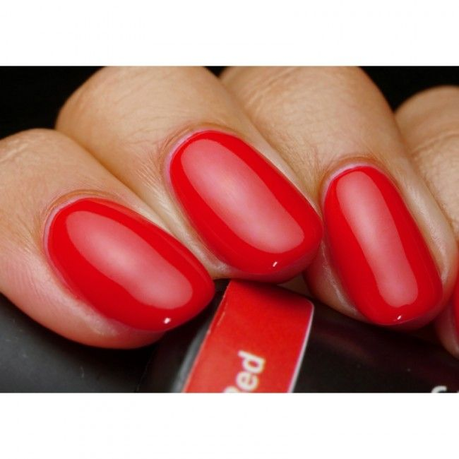 Get Pink Gellac 108 Lady in Red gel nail polish colour at www.pinkgellac.co.uk