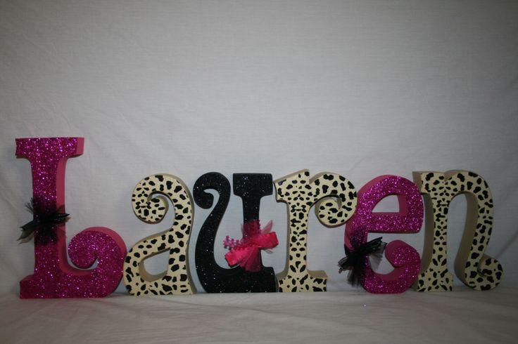 Wood letters Teen girl decor Cheetah print Animal print Leopard room decor Name letters Wooden letters Wood letters for nursery Personalized by WoodenWondersShop on Etsy https://www.etsy.com/listing/233057761/wood-letters-teen-girl-decor-cheetah