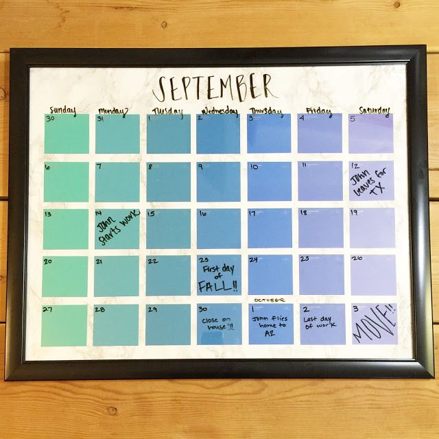 Diy Ombre Calendar : Best paint chip calendar ideas on pinterest