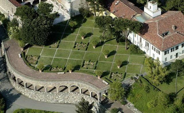 il giardino vista aerea