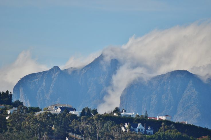 Spanish Farm suburb against the slopes of the Helderberg mountain in Somerset West - Cape Town. Rated as one of the top 20 suburbs in South Africa. #spanishfarm #suburb #somersetwest