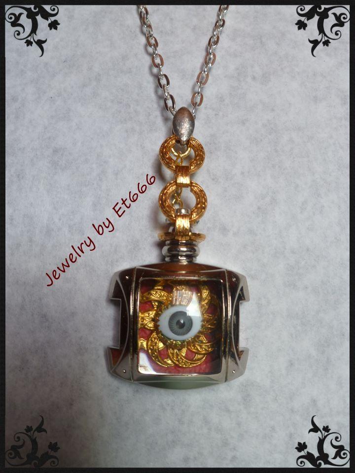 Bijoux créateurs pendentif steampunk . Le Cyclope