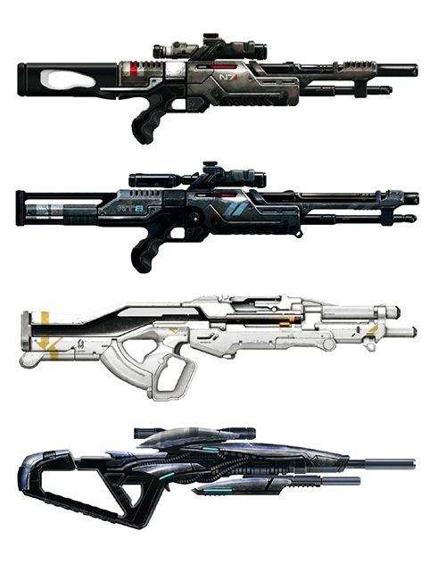 Spade's Sketch Book, monkeydseehr: Weaponry - Mass Effect [◼]