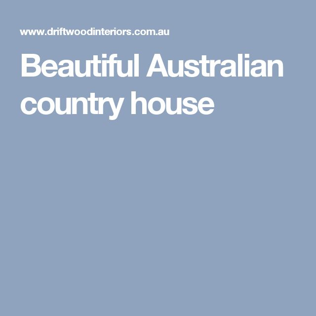 Beautiful Australian country house