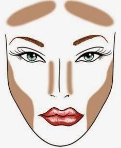 face contouring for diamond chin - Google Search