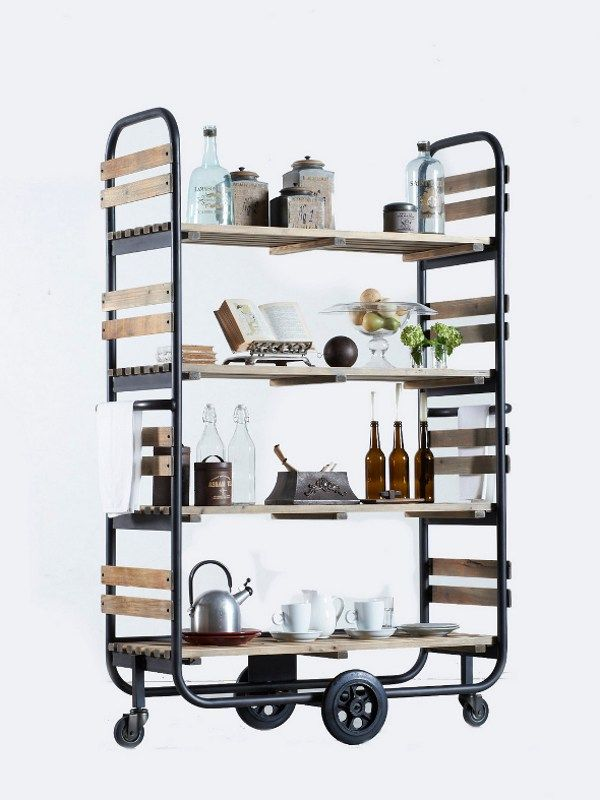 Shelving unit with casters DB002931 by Dialma Brown #kitchen