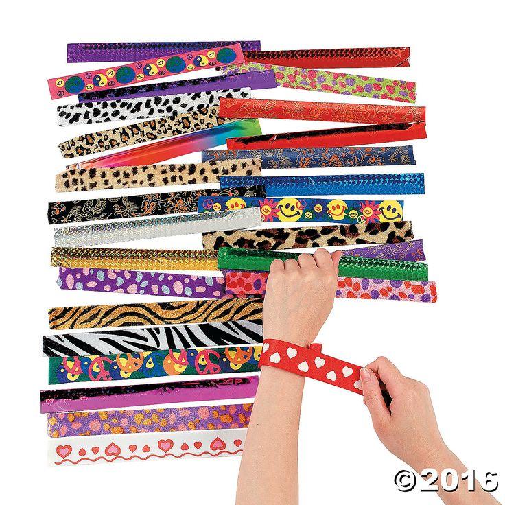 Slap Bracelet Assortment - OrientalTrading.com