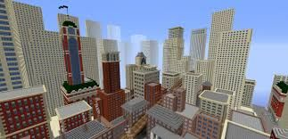 """Tate worlds"" - Videogame in stile Minecraft per la Tate Gallery di Londra, 2014: Mappa Minecraft ispirata al dipinto di Christopher Richard Wynne Nevinson, ""The Soul of the Soulless City"" ('New York - an Abstraction'), 1920, olio su tela"