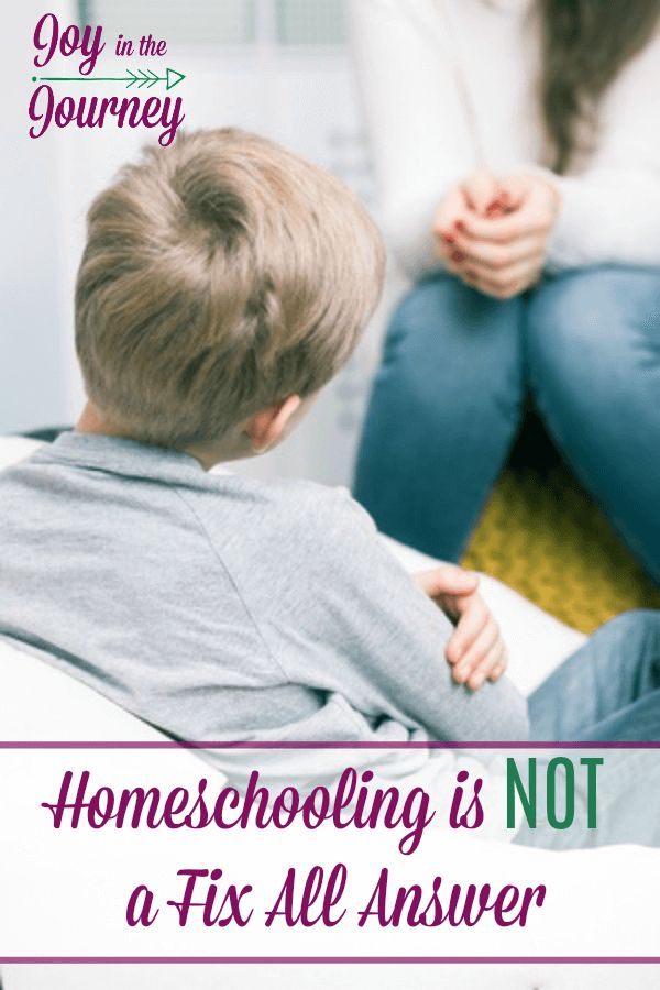 Considering homeschooling? That's great there are TONS of reasons to consider homeschooling. BUT, if you want it to fix a problem..... I have some bad news for you today.Homeschooling is not a fix all answer.
