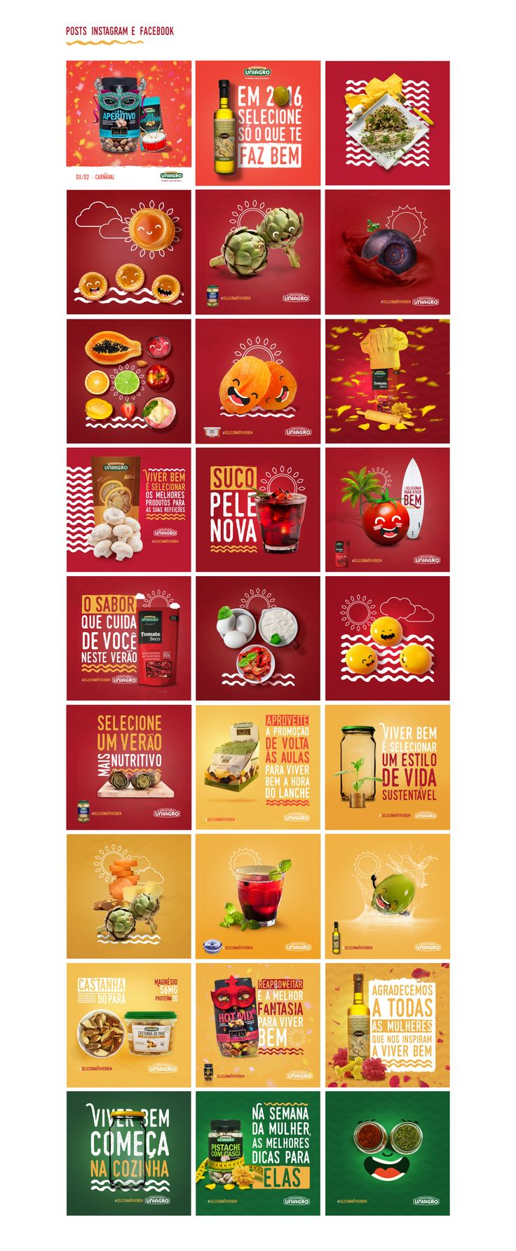 https://social-media-strategy-template.blogspot.com/ #socialmedia Selecionar Para Viver Bem (Social Media) on Behance