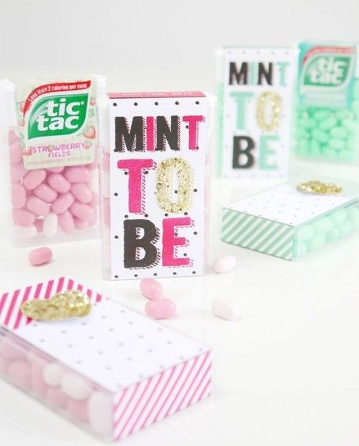 mint pink wedding favors gifts