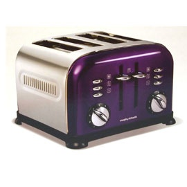 Morphy Richards 44737 Accents 4 Slice Plum Purple Toaster At The Good Guys