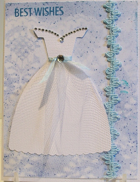 Вязаное платье для открытки