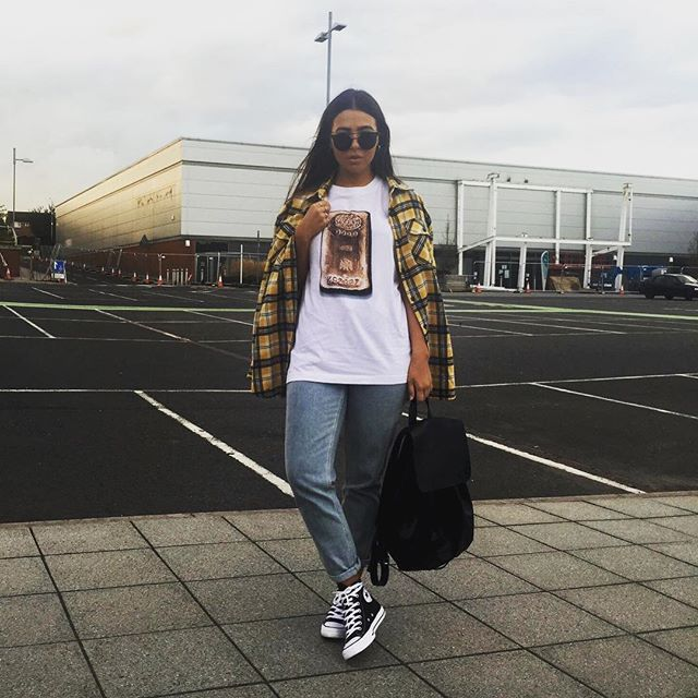 OOTD  Tee - @uniqlo_uk  Shirt - @reclaimedvintageldn  Jeans -  @topshop  Shoes - Converse Bag - Zara
