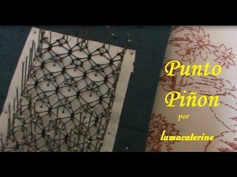 Encaje de bolillos: Punto piñon - YouTube