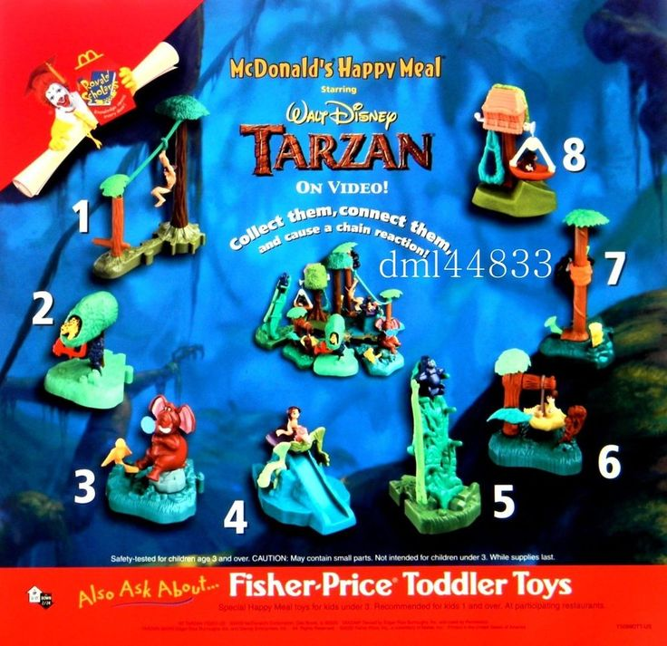 2000 McDonalds Tarzan Jungle Home Video Playset MIP Complete Set - Lot of 8, 3+  | eBay