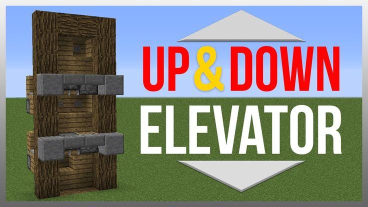 Minecraft 1.9: Redstone Tutorial - Up & Down Elevator!