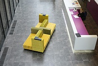 CUBBER - [design:Urszula Burgieł, Julia Pawlikowska, Olga Mężyńska for NOTI] Modular sofa for public spaces. www.urszulaburgiel.pl