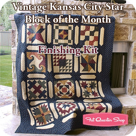Kansas City Start BOM - Kansas Troubles Quilters, Cattails & Clover: Quilts Patterns, Finish Kits, Cities Stars, Months Program, Kits Quilts, Months Finish, Patterns Fat, Kansas Cities, Fat Quarter