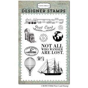 Szilikonbélyegző készlet , Old World Travel / Designer Stamps - Post Card (1 csomag)