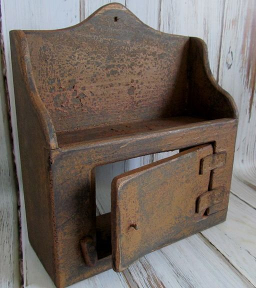 Primitive Wooden Handmade Thermostat Cover