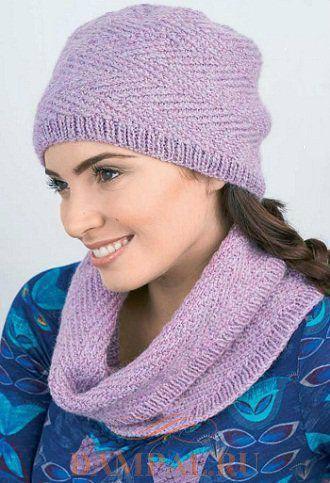 шапка и шарф снуд Orchid Kiss вязание шапки Pinterest шарф