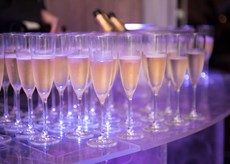 Taittinger Champagne Reception | 2017 Hospitality Gala | Benefiting the College of Human Sciences Hospitality Management Program at Auburn University #fundraiser #gala | Venue: The Hotel at Auburn University #Marquee #uplighting