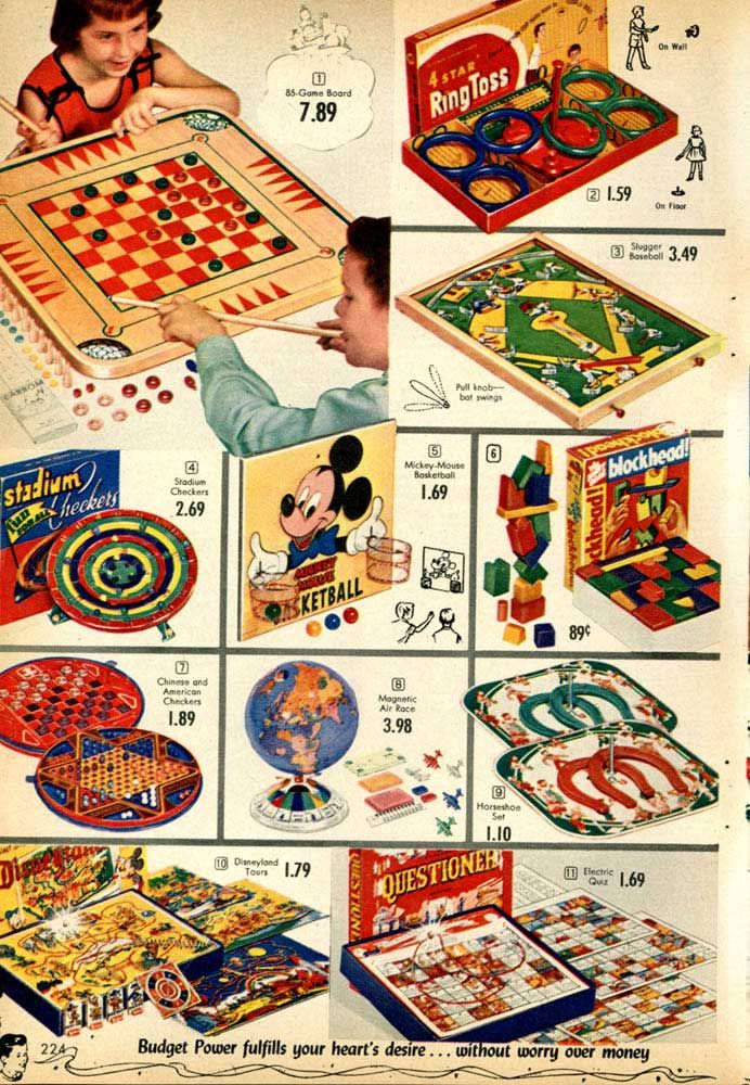 Vintage Games from a 1955 Spiegel catalog