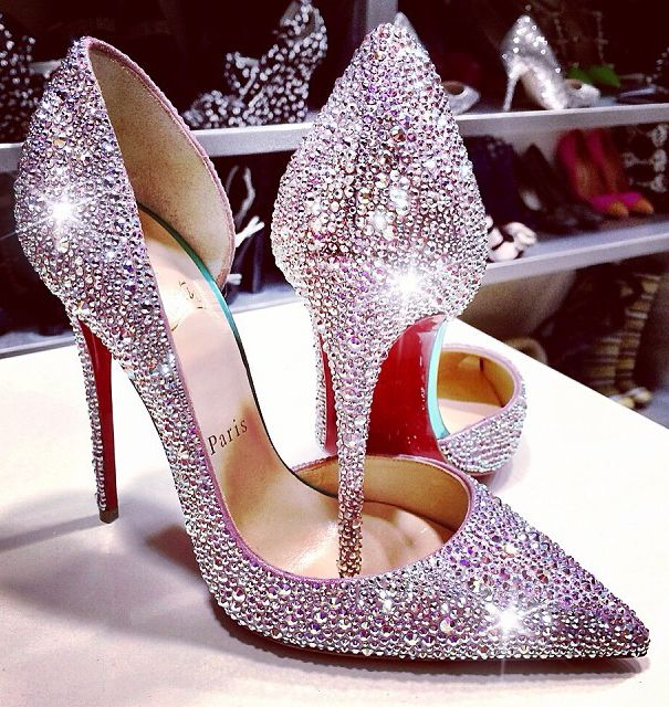 christian louboutin iriza crystal pumps. #shoeporn