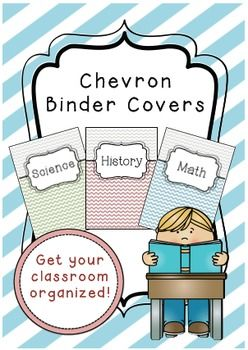 Get organised with these colourful chevron binder covers, just print and go! Includes 20 cover and spine labels